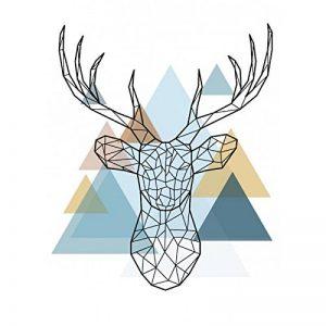 Stickers Autocollants enfant déco noel scandinave Cerf design réf 309 - Hauteur 35 cm de la marque Youdesign FR image 0 produit