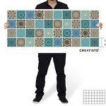 Stickers carrelage adhesifs mosaïques muraux pour Salle d'eau et Credence Cuisine I Autocollants carrelage - Design Marocain I 10x10 cm (40 pièces) de la marque creatisto image 3 produit