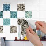 Stickers carrelage adhesifs mosaïques muraux pour Salle d'eau et Credence Cuisine I Autocollants carrelage - Design Marocain I 10x10 cm (40 pièces) de la marque creatisto image 2 produit
