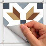 Stickers Carrelage Adhésif - Sticker Autocollant Carreaux de ciment – Décoration Murale Stickers Tiles pour Salle de Bain et Cuisine - Carreaux de ciment adhésif mural - 20 x 20 cm - 30 pièces de la marque Ambiance image 4 produit