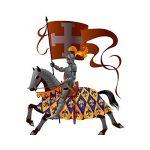 Stickers Chevalier à cheval - L 60cm x H 72cm de la marque TATOUTEX image 1 produit