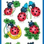 stickers coccinelle TOP 0 image 1 produit