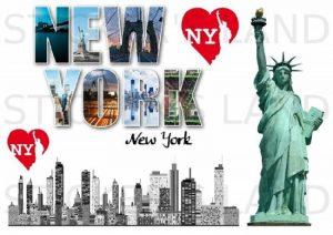 STICKERS DÉCORATIFS USA ETAT-UNIS à découper (Planche à stickers DIMENSIONS 21x28cm en PAPIER ADHESIF TRANSPARENT) de la marque STICKER'S LAND image 0 produit