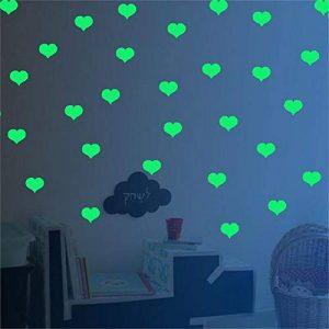 Stickers de décoration murale pour chambre d'enfan Des étoiles brillantes dans le mur ou au plafond avec des autocollants d'amour - Des autocollants lumineux pour un effet nocturne - Un décor idéal po de la marque Weentop image 0 produit