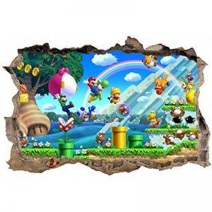 Stickers Enfant Stickers 3D Mario Réf 23624-120x80cm de la marque Stickers-Enfant image 0 produit