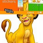 Stickers Mural enfants Simba (DISNEY) Nouvelles Images de la marque NOUVELLES-IMAGES image 1 produit