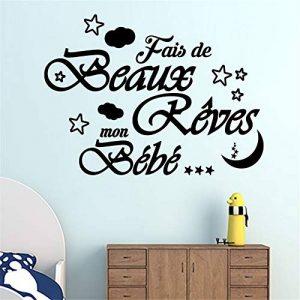 stickers muraux animaux de la foret Fais De Beaux Rêves Mon Bebe Pour Pépinière Chambre D'enfant de la marque Smile-decal image 0 produit