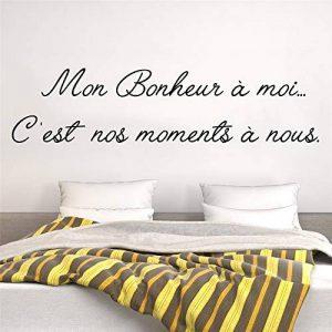 stickers muraux chambre ado fille Mon Bonheur À Moi C'Est Nos Moments A Nous Pour Le Salon Chambre de la marque Smile-decal image 0 produit