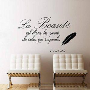 stickers muraux cuisine rouge La Beauté Est Dans Les Yeux De Celui Qui Regarde Pour Le Salon Chambre de la marque Smile-decal image 0 produit