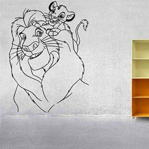 Stickers Muraux Décor Chambre D'Enfant Roi Lion Simba Mufasa Cartoon Art Chambre D'Enfants de la marque denocal image 0 produit