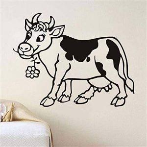 Stickers Muraux Dessin Animé Mignon Vache Chambre D'Enfant Creuser La Chambre Décoration Pour Enfants Animaux de la marque Lisao image 0 produit