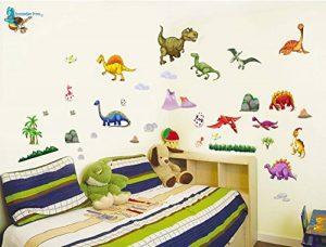 Stickers muraux dinosaures garçons et filles Chambre d'enfant Salon Autocollant pour chambre à coucher Jurassic World Dinosaures Stickers muraux T Rex Art Décoration murale de la marque BumbleBee Print image 0 produit