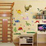 Stickers muraux dinosaures garçons et filles Chambre d'enfant Salon Autocollant pour chambre à coucher Jurassic World Dinosaures Stickers muraux T Rex Art Décoration murale de la marque BumbleBee Print image 2 produit