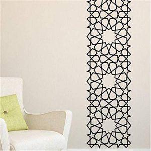 stickers muraux foot arabesques orientales carrées étoiles de la marque autocollant de cerf image 0 produit