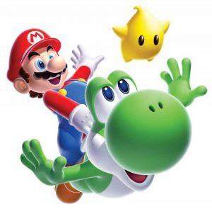 Stickers Muraux Geant Mario Galaxy Yoshi de la marque Thedecofactory image 0 produit