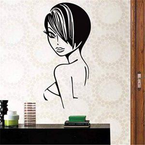 stickers muraux miroir pas cher Stickers Salon De Coiffure Ciseaux De Beauté Decal Coupe De Cheveux Posters Décor Décoration Salon Autocollant de la marque sauold image 0 produit