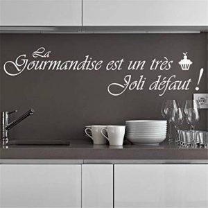 stickers muraux phrases de vie Sticker mural cuisine Citation Française Bonne Cuisine Si Au Départ Paul Bocuse Pour Cuisine salle à manger Restaurant de la marque autocollant heureux image 0 produit