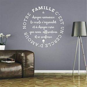 stickers muraux phrases pas cher Notre famille est l'amour du salon de la marque La maison du prince image 0 produit