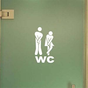 stickers muraux phrases pas cher Wc Sign Pour Wc Autocollant Mural Signe De Porte De Toilette de la marque stickers muraux phrases pas cher Wc Sign Pour Wc Autocollant Mural Signe De Porte De Toilette image 0 produit