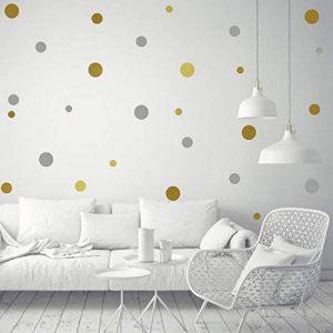 stickers muraux rond doré TOP 8 image 0 produit