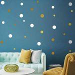 stickers muraux rond doré TOP 8 image 4 produit