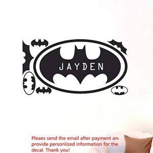Stickers Muraux Sticker Personnalisé Nom Personnalisé Batman Home Kid Pour Garçons de la marque Seaoy image 0 produit