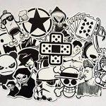 stickers noir et blanc TOP 2 image 1 produit