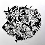 stickers noir et blanc TOP 8 image 1 produit