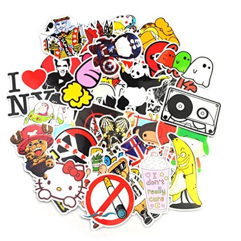 v/élo Graffiti Autocollant Stickers vinyles pour ordinateur portable moto voitures 200-pcs enfants Skateboard bagages Neuleben Autocollant Lot Bumper Stickers hippie autocollants Bomb /étanche.