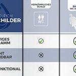 Stickers pour toilettes - Plaque de porte femmes et hommes – sticker toilette 5cm x 11cm – facile à coller – signes wc homme femme pour toilette wc de la marque Bamodi image 2 produit