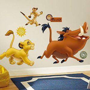 Stickers repositionnables Le roi lion Disney multiéléments de la marque Thedecofactory image 0 produit