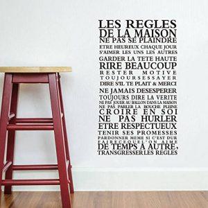 Stickers Smart House® - Sticker mural « les règles de la maison » Noir (65X40) de la marque Smart-House image 0 produit