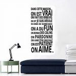 Stickers Smart House®- Sticker mural « On est vrai ... On aime » Noir (97x48) de la marque Smart-House image 1 produit