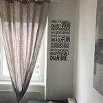 Stickers Smart House®- Sticker mural « On est vrai ... On aime » Noir (97x48) de la marque Smart-House image 2 produit