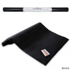 Stickers Tableau Noir Ardoise - Tableau Noir Autocollant Repositionnable - 60cm x 310cm 5 craies - Ezigoo de la marque Ezigoo image 0 produit