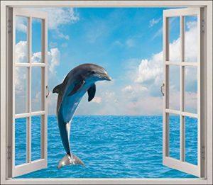 Stickersnews - Sticker fenêtre déco Dauphin réf 5427 Dimensions - 80x70cm de la marque N/D image 0 produit