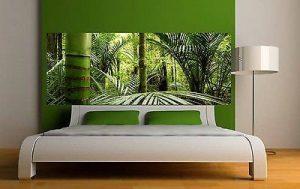 Stickersnews - Sticker tête de lit décoration murale Forêt Bambous réf 3626 (5 dimensions) Dimensions - 180x70cm de la marque N/D image 0 produit