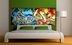 Stickersnews - Sticker tête de lit décoration murale Tag Graffiti réf 3633 (5 dimensions) Dimensions - 160x62cm de la marque N/D image 0 produit