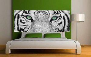 Stickersnews - Sticker tête de lit décoration murale Yeux de tigre réf 3612 Dimensions - 160x62cm de la marque N/D image 0 produit
