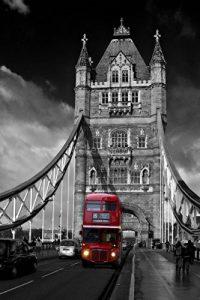 Stickersnews - Stickers autocollant ou Affiche poster London Bridge Londres Noir&Blanc CV_00078 Stickers/Affiche - Stickers autocollant, Dimensions - 21x29,7 cm (A4) de la marque N/D image 0 produit