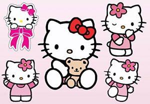 Stickersnews - Stickers enfant planche de stickers Hello Kitty réf 9540 Dimensions - 39x26cm de la marque N/D image 0 produit
