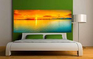Stickersnews - Stickers tête de lit Déco chambre Coucher de soleil Dimensions - 160x62cm de la marque N/D image 0 produit