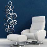 Stonges Cristal 3D Miroir Stickers Muraux Acrylique Cercle Stéréo DIY Stickers Muraux Chambre Salon Mural (argent) de la marque Stonges image 2 produit
