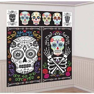 Tatouage Mural de fête Halloween 5 Images murales Jour des Morts déco Murale Ornement d'ambiance La Catrina Accessoire pour Halloween Décorations de muraux fête des Morts Mexicaine de la marque Amakando image 0 produit