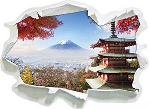 Temple Japonais à l'automne, Papier 3D Sticker Mural Taille: 92x67 cm décoration Murale 3D Stickers muraux Stickers de la marque Stil-Zeit image 0 produit