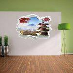 Temple Japonais à l'automne, Papier 3D Sticker Mural Taille: 92x67 cm décoration Murale 3D Stickers muraux Stickers de la marque Stil-Zeit image 3 produit