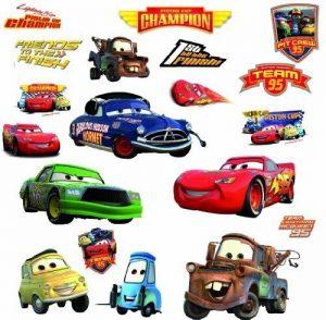 Thedecofactory 539035 Disney Cars Piston Cup ROOMMATES REPOSITIONNABLES (19 Stickers), Vinyle, Multicolore, 104 x 26 x 2,5 cm de la marque Thedecofactory image 0 produit