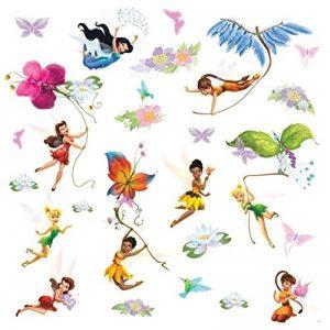 Thedecofactory 539147 Disney Les FÌÄES Brillant REPOSITIONNABLES (30 Stickers), Vinyle, Multicolore, 104 x 26 x 2,5 cm de la marque Thedecofactory image 0 produit