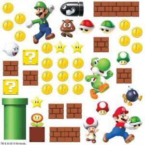 Thedecofactory 54144 Stickers muraux Super Mario Scene, Papier, Multicolore, 48 x 8 x 8 cm de la marque Thedecofactory image 0 produit