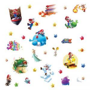 Thedecofactory 871SCS Nintendo Super Mario Galaxy 2 ROOMMATES REPOSITIONNABLES (32 Stickers), Vinyle, Multicolore, 104 x 26 x 2,5 cm de la marque Thedecofactory image 0 produit